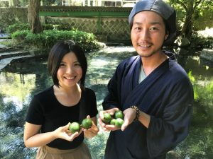 RKKラジオ『キラリ☆農業女子』への出演と9月の摘果作業の風景
